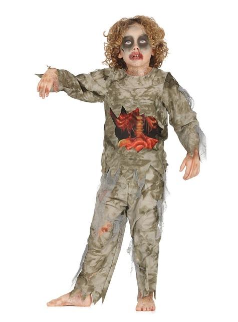 Maskeraddräkt zombie flådd för barn