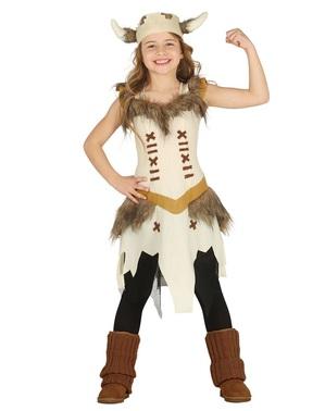 Disfraz de vikinga valiente para niña