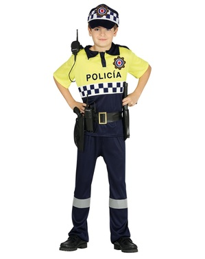 Disfraz de policía local para niño