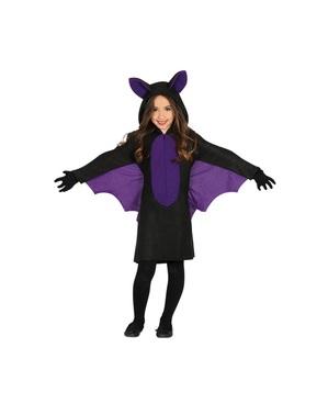 Fato de morcego das cavernas para menina