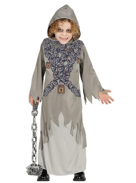 Vastegketende spook kostuum voor kinderen