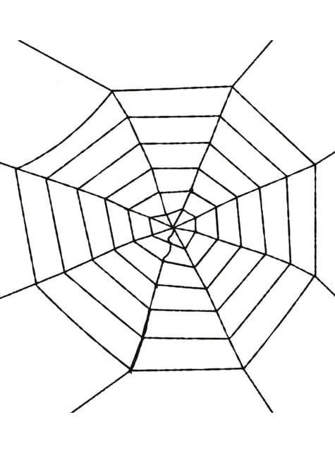Telaraña negra de 100 cm