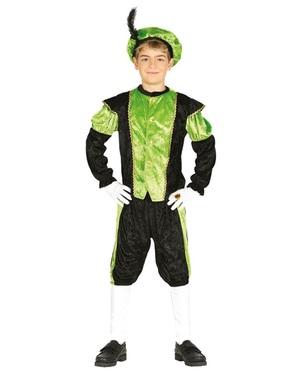 Disfraz de Pedro ayudante de San Nicolás verde infantil