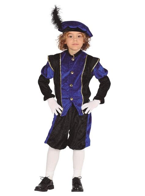 Schwarzer Peter Piet Nikolaushelfer blaues Kostüm für Jungen