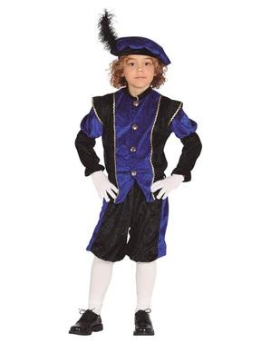 Costum Petru ajutorul lui Moș Nicolae albastru pentru băiat