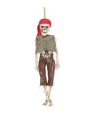 Figura pingente de esqueleto pirata