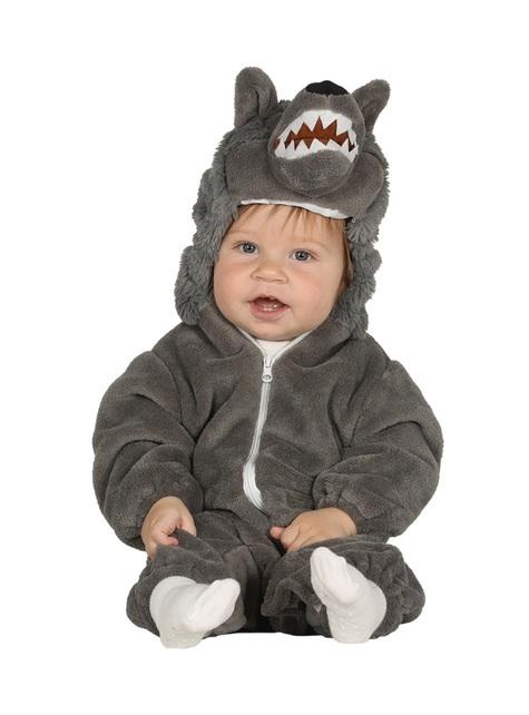Wolf Kostüm grau für Babys