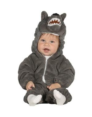 Disfarce de lobo cinzento para bebé