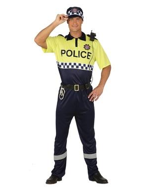 Trafikk Politi kostyme for voksne
