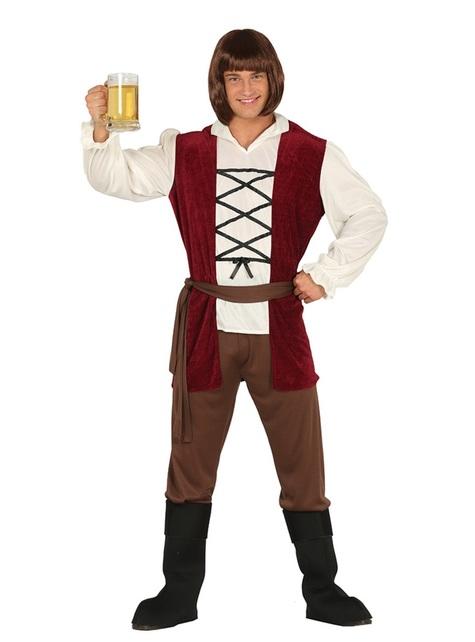 Middeleeuws herbergier kostuum voor mannen