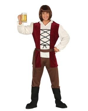 Costum de ospătar medieval pentru bărbat