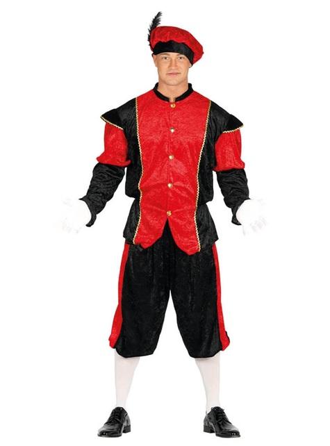 Costume da aiutante di San Nicola rosso per adulto