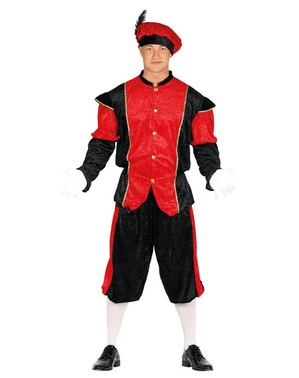 Strój pomocnik Świętego Mikołaja czerwony męski