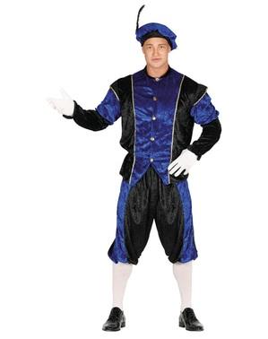 Schwarzer Peter Piet Nikolaushelfer blaues Kostüm für Herren
