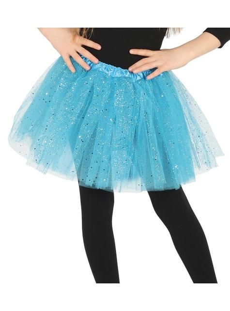 Tutú azul con brillantina para niña