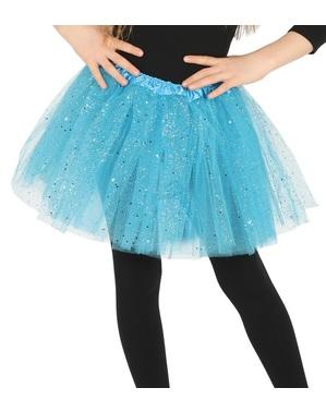 Tutu albastru cu sclipici pentru fată