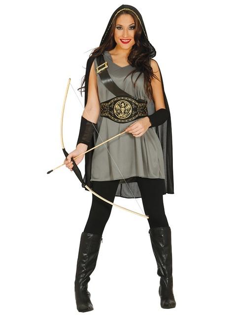Disfraz de arquera salvadora del hambre para mujer