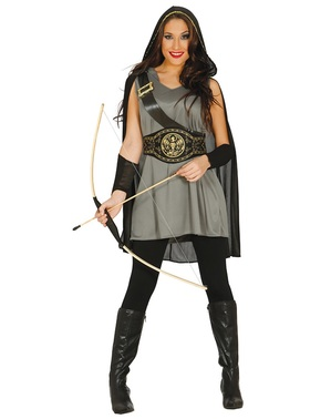 Hunger saving archer costume for women