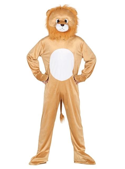 Disfraz de león con cabeza para adulto
