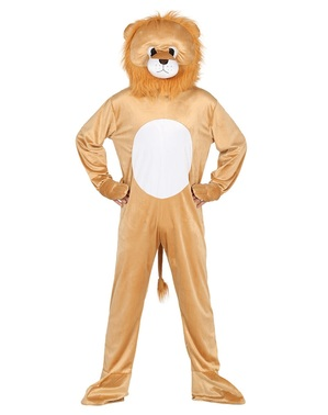 Lion costume with head for adults