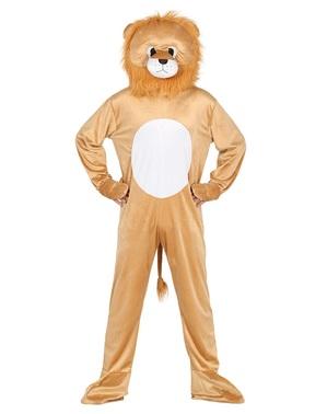 Løve kostume med hoved til voksne