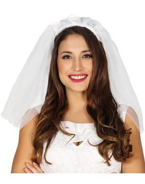 Velo de novia blanco para mujer