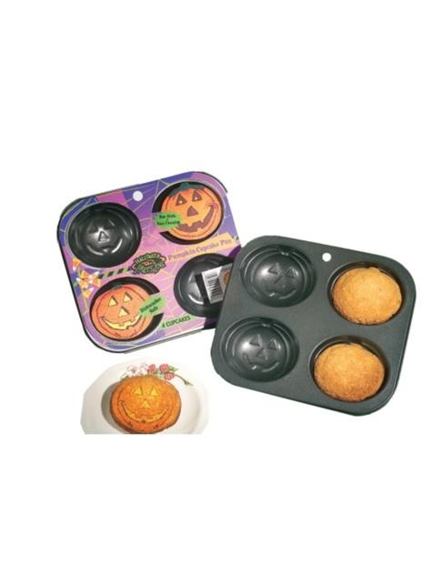 Pumpkin shaped cupcake baking tray