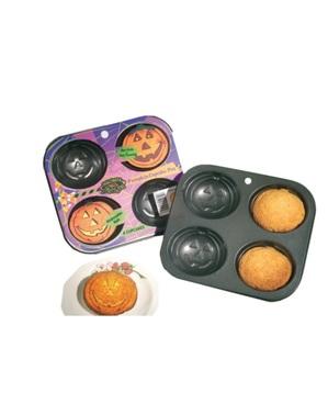 Molde para cupcakes com forma de abóbora