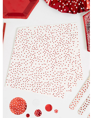 16 Serviettes en papier rouges (33 cm) - Red Christmas