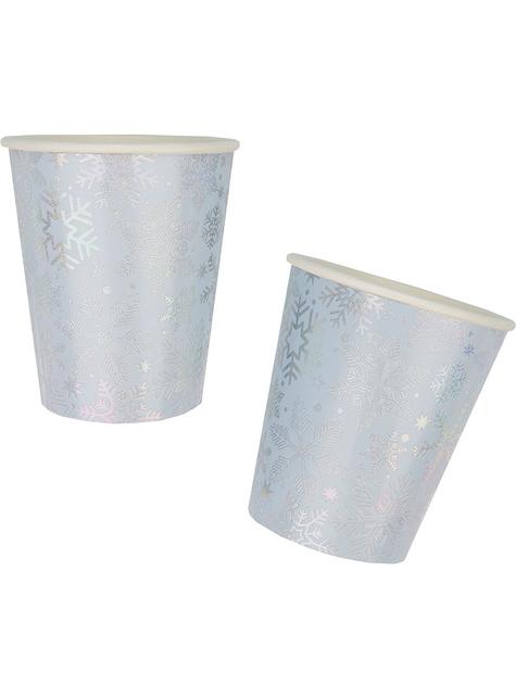8 copos copo de neve - Iridescent Christmas