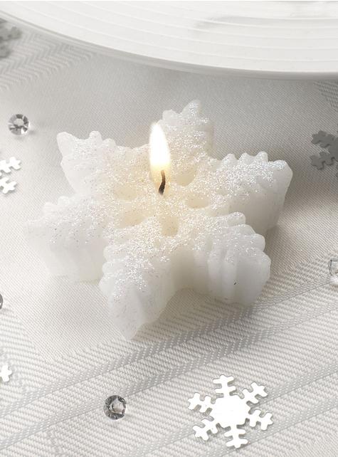 3 velas com forma de copo de neve - Snowflake Collection