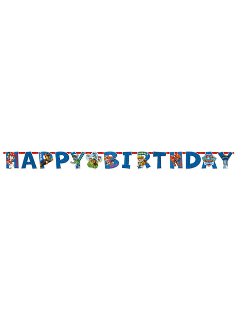 Grinalda Feliz Aniversário Patrulha Pata