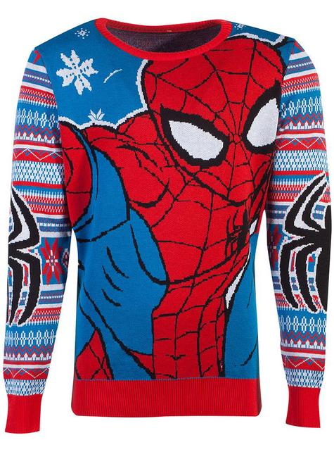 Jersey de Spiderman navideño para adulto unisex - Marvel