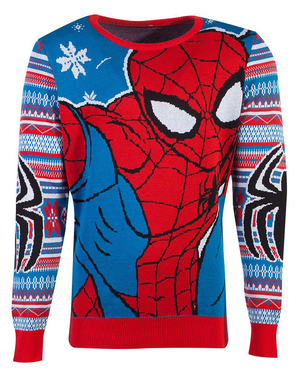 Коледен унисекс пуловер със Спайдърмен за възрастни– Марвел