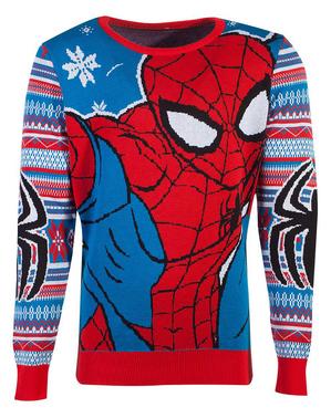 Uniseks Božićni Spiderman džemper za odrasle - Marvel