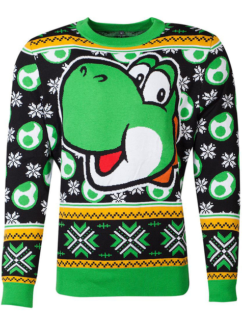 Jersey de Yoshi navideño para adulto unisex - Super Mario Bros