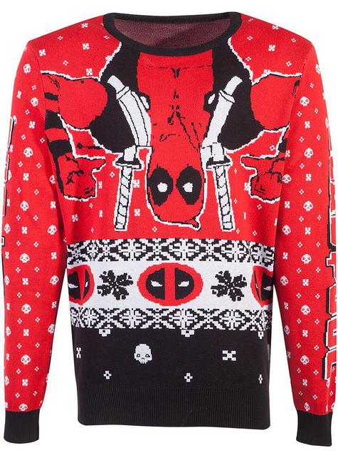 Camisola de Deadpool natalícia para adulto unissexo - Marvel