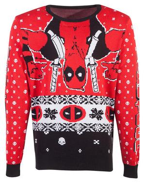 Коледен пуловер Унисекс с Deadpool от