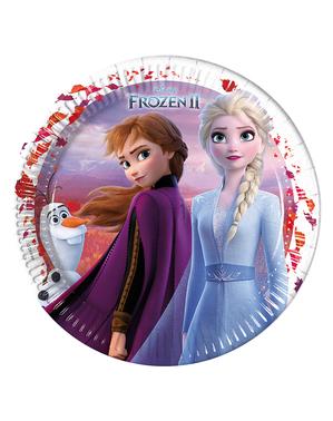 8 assiettes La Reine des neiges 2 (23 cm)