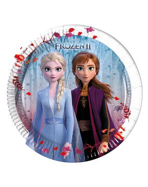 8 assiettes La Reine des neiges 2 (20 cm)