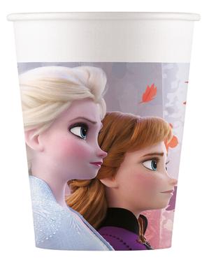 8 Frozen 2 -paperikuppia (20cl)