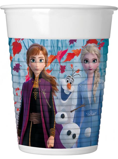 8 vasos Frozen 2 de plástico (20 cl)