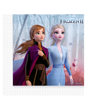 20 Serviettes en papier La Reine des neiges 2 (33 cm)