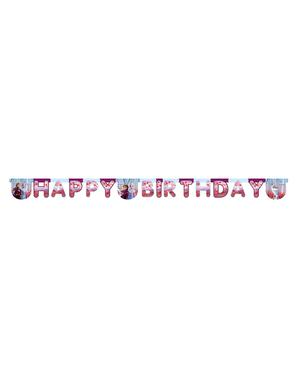 Ghirlandă Regatul de gheață 2 (Frozen) Happy Birthday