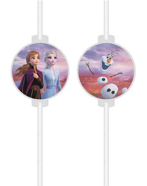4 x Frozen 2 rietjes