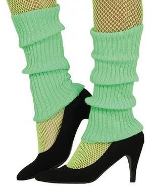 Green woolen legwarmers for adult