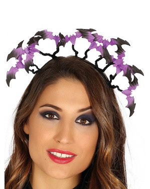 Frightening bat headband