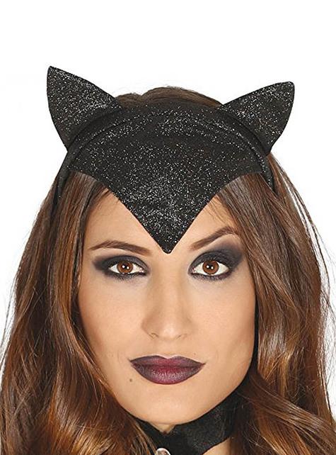 Черна котешка глава за жена