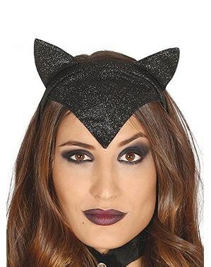Sort katte hårbånd til kvinder