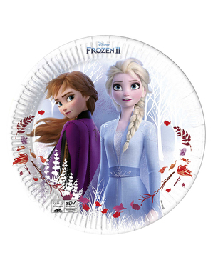 8 Frozen 2 plates made of compostable paper (23cm)